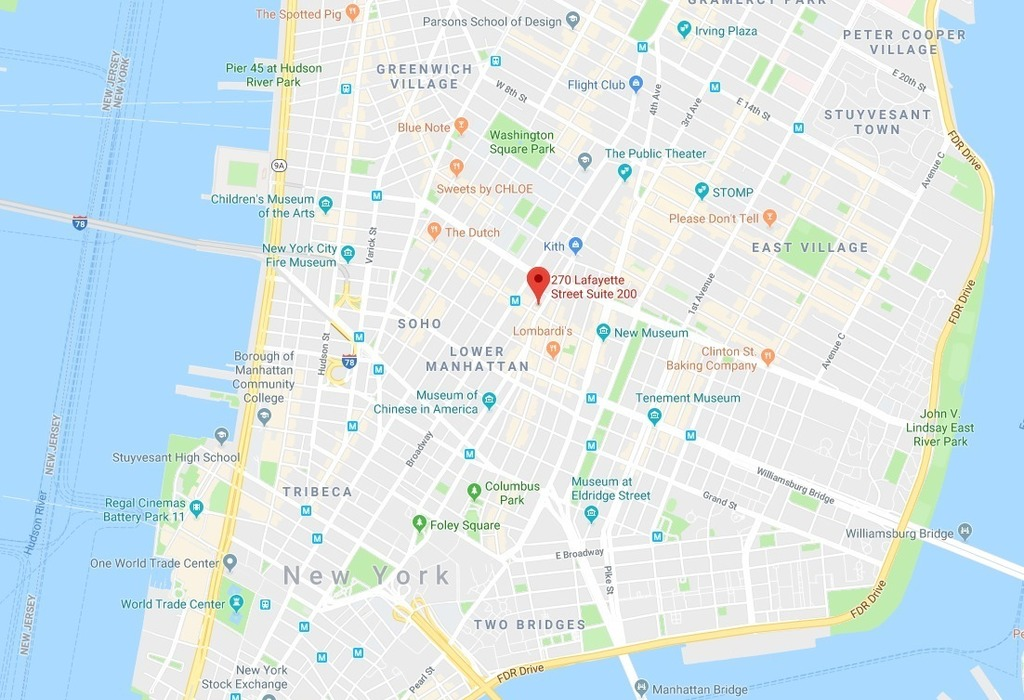 270 Lafayette Street, Suite 1301 New York City, NY 10012
